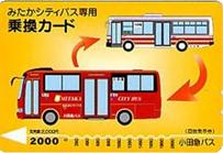 みたかシティバス専用乗換カード